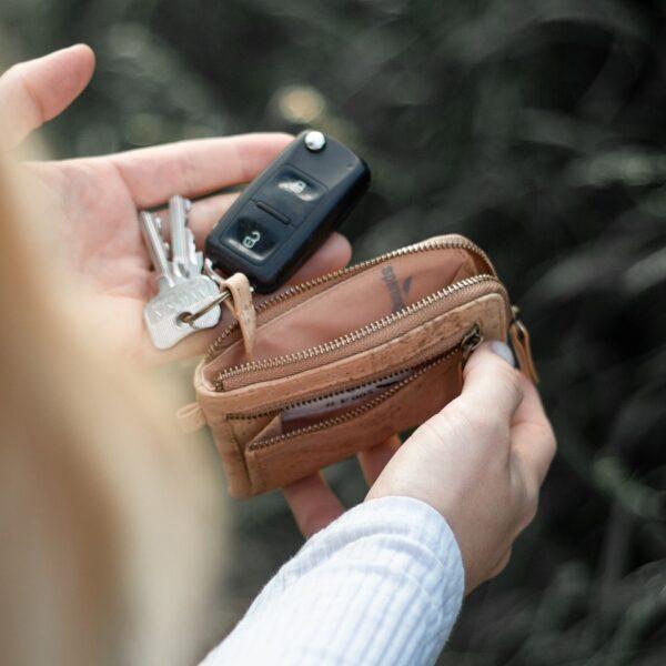 Schlüsselmäppchen Kork